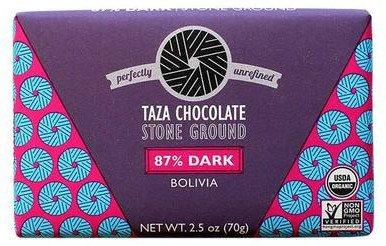 87%-os organikus étcsokoládé Bolíviából Taza