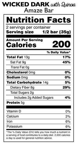 Taza 95%-os organikus étcsokoládé quinoaval
