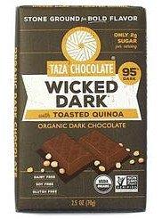 95%-os étcsokoládé Quinoa-val Taza