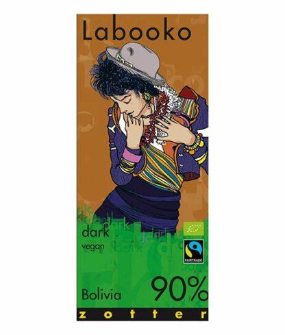 Zotter Labooko 90%-os étcsokoládé bolíviai kakaóból