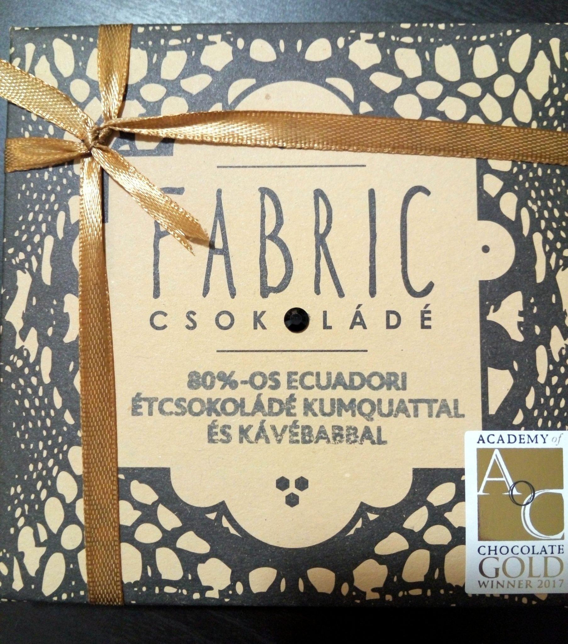 Fabric étcsokoládé 80%-os ecuadorri arriba kakaóból qumquattal és kávéval