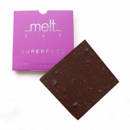 Melt Superfood 72%-os étcsokoládé fekete ribizlivel és quinoaval