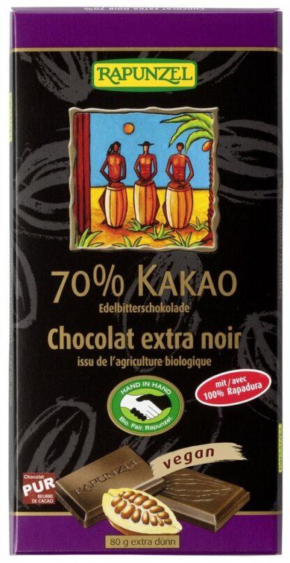 Rapunzel vegan 70%-os étcsokoládé organikus kakaóból