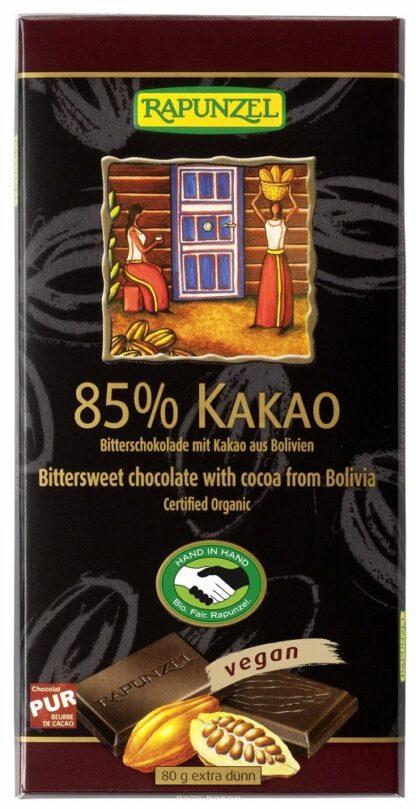 Rapunzel 85%-os vegan étcsokoládé organikus kakaóból