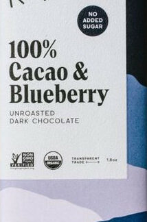 Raaka áfonyás kézműves étcsokoládé 83%-os organikus kakaótartalommal