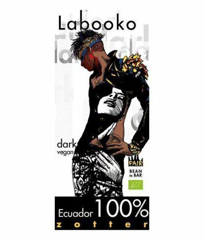 Zotter Labooko 100%-os étcsokoládé ecuadori Arriba kakaóból